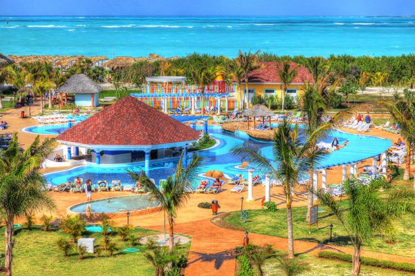 Caribbean Resort - Colorful Stock Photos