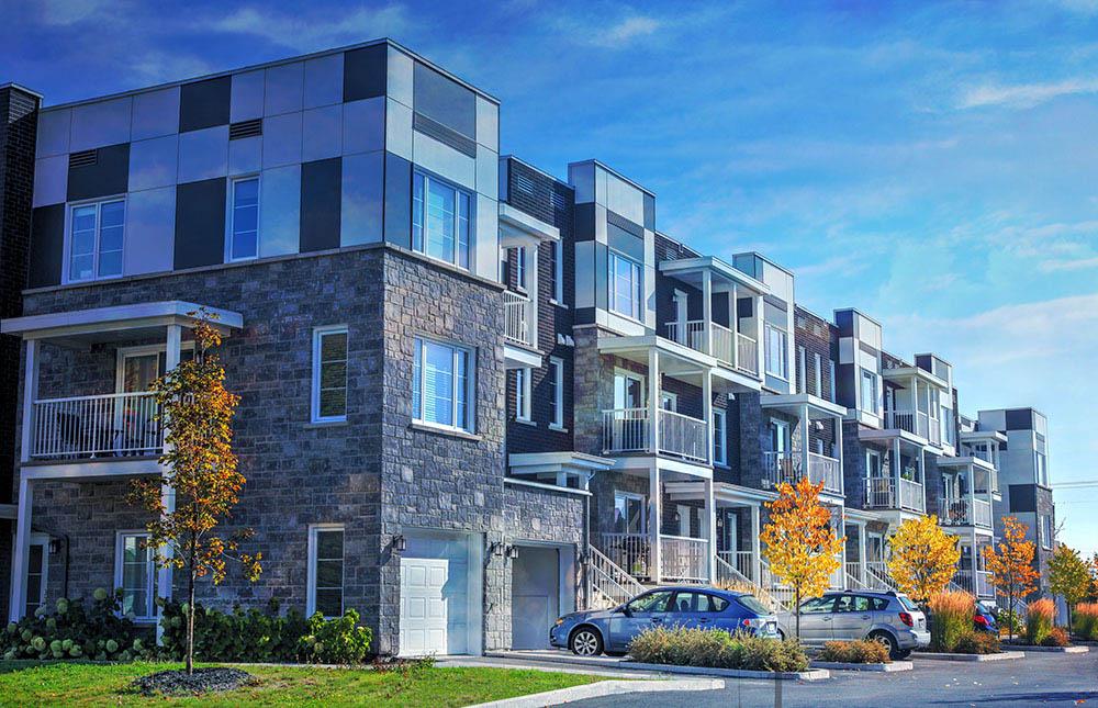 Chic Condominium - Colorful Stock Photos