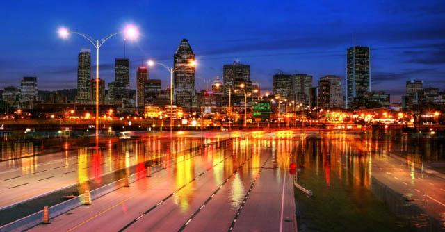 Montreal City Urban Montage 04 - Colorful Stock Photos