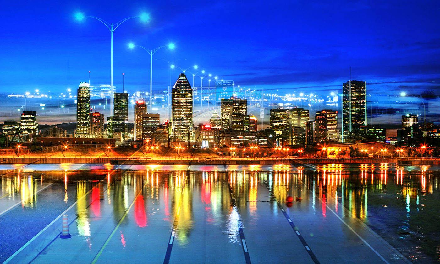 Montreal City Urban Montage 06 - Colorful Stock Photos
