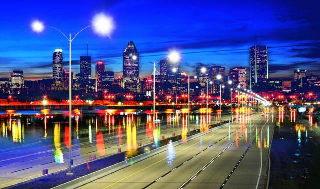 Montreal City Urban Montage 07 - Colorful Stock Photos