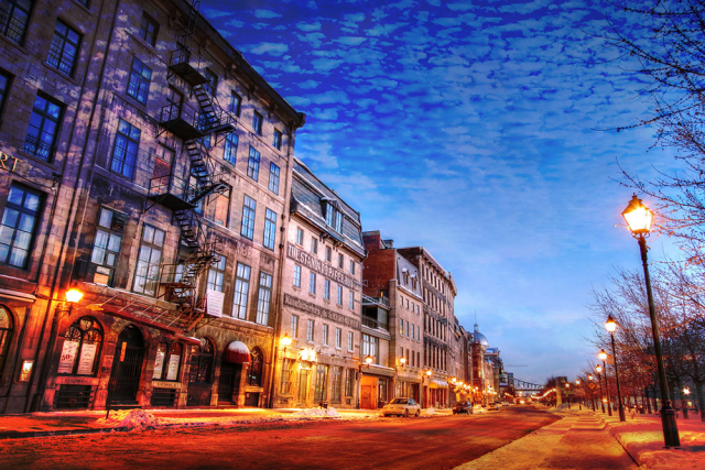 Old Montreal City 01 - Colorful Stock Photos