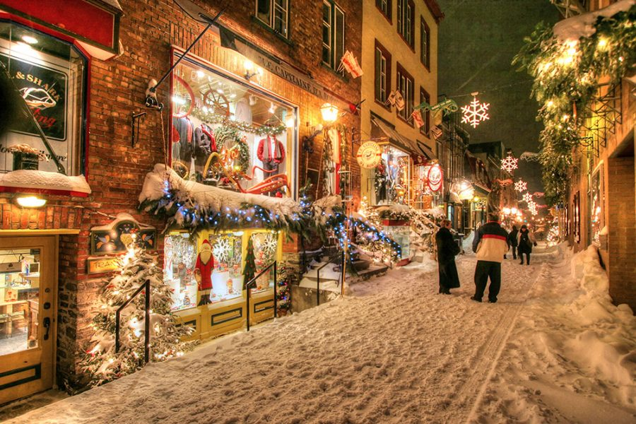 Old Quebec City District Alley - Colorful Stock Photos