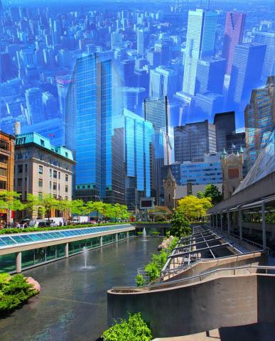 Toronto City Photo Montage - Colorful Stock Photos