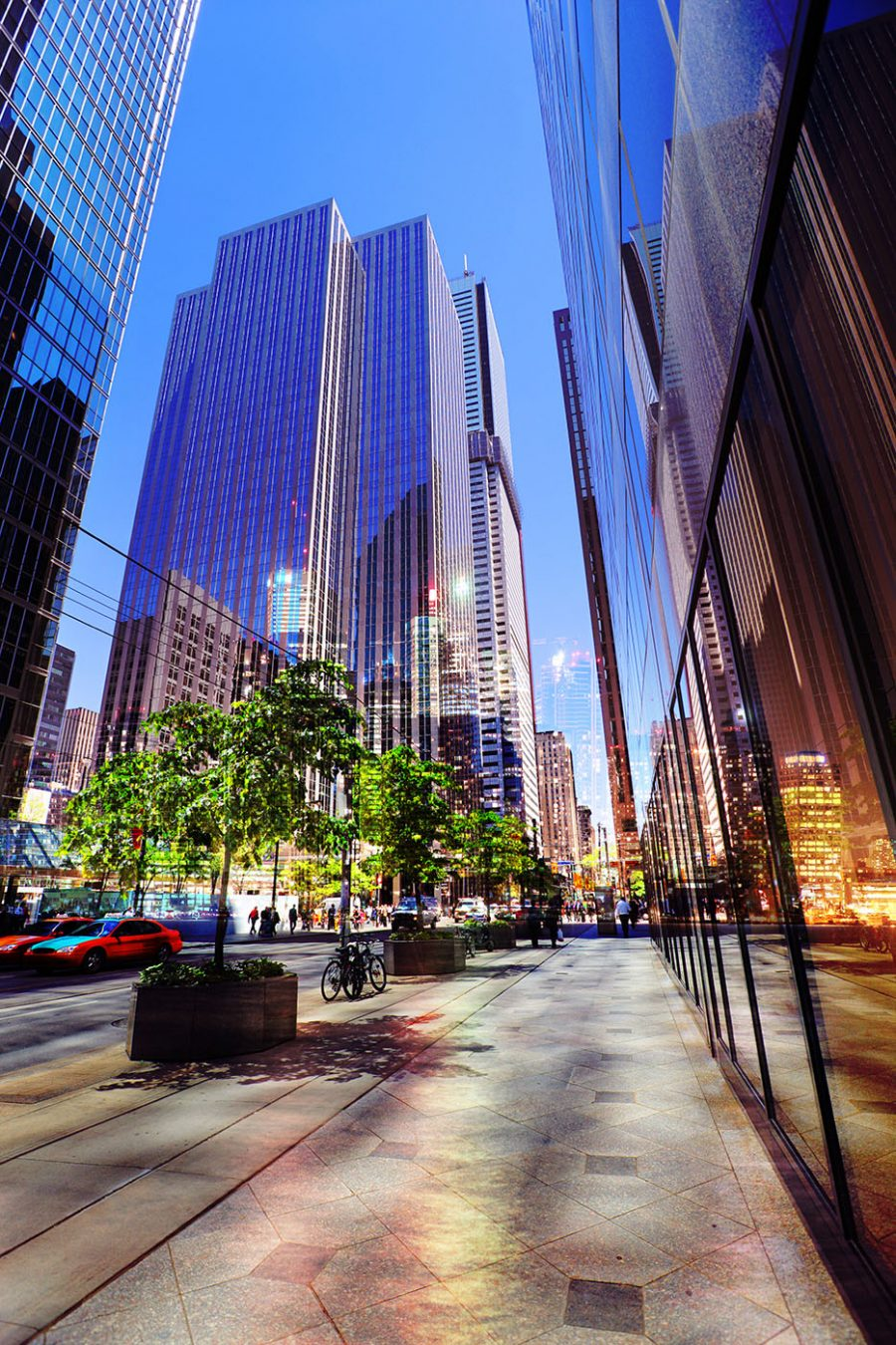 Downtown Office Street 4 - Colorful Stock Photos