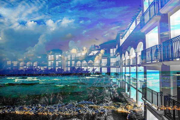 Hotel Resort Photo Montage 01 - Colorful Stock Photos
