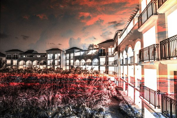 Hotel Resort Photo Montage 02 - Colorful Stock Photos