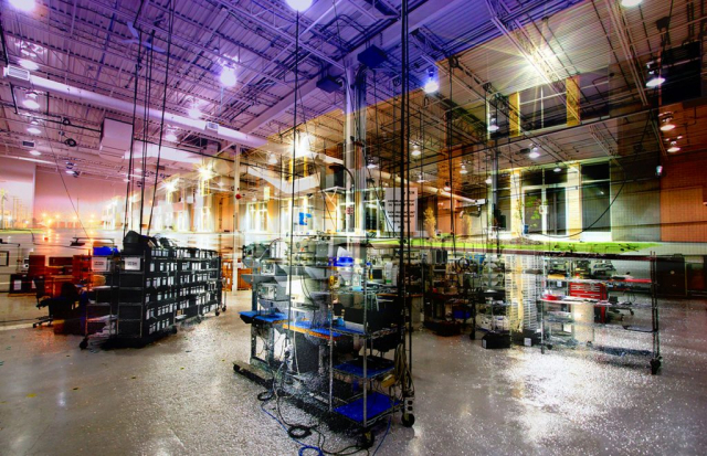 Industry Interior Photo Montage - Colorful Stock Photos