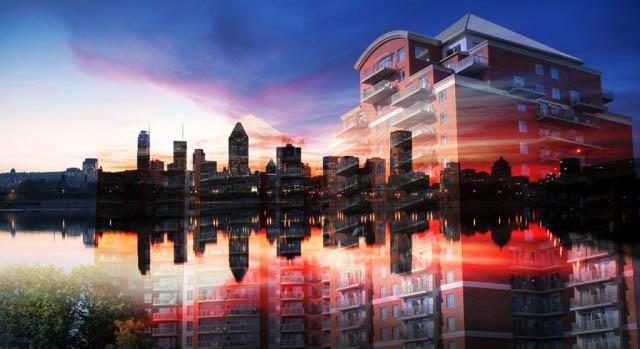 Urban Residence Photo Montage - Colorful Stock Photos