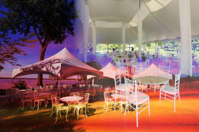 Celebration Tent Photo Montage - Colorful Stock Photos