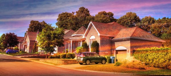 Cozy Neighborhood 01 - Colorful Stock Photos