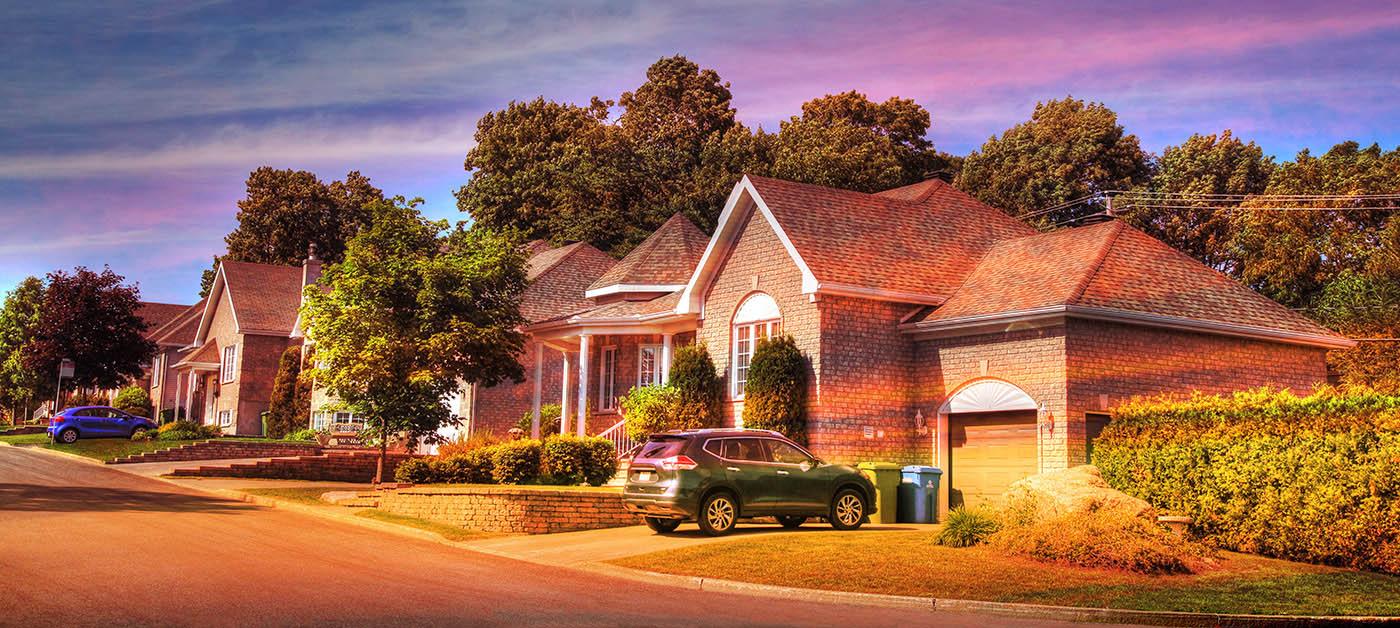 Cozy Neighborhood 01 - Colorful Stock Photos