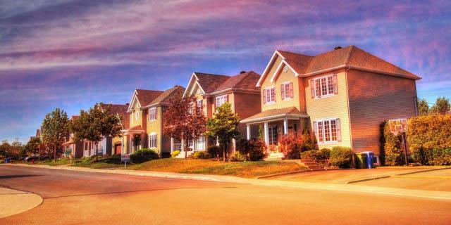 Cozy Neighborhood 02 - Colorful Stock Photos