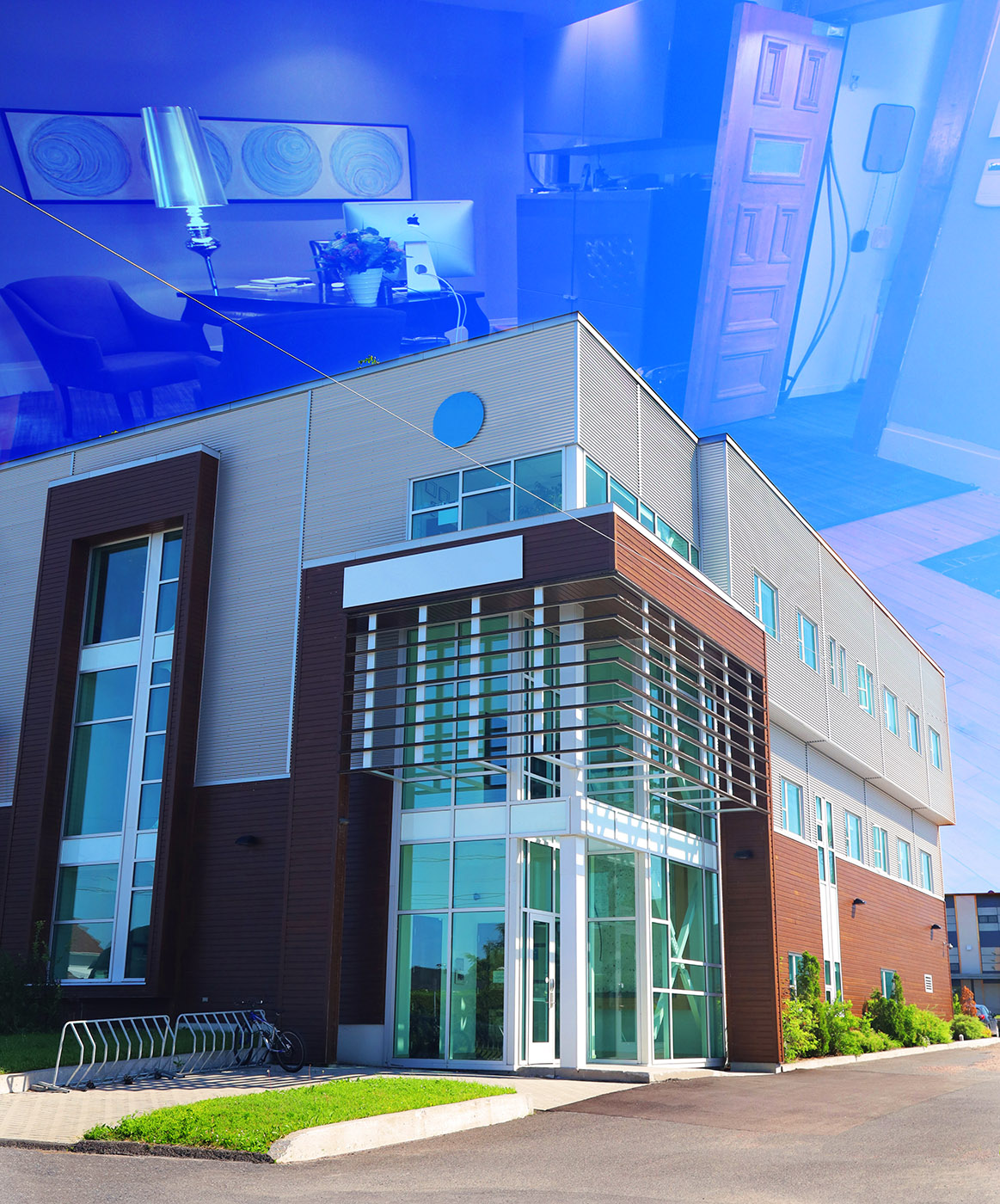 Modern Office Building - Colorful Stock Photos