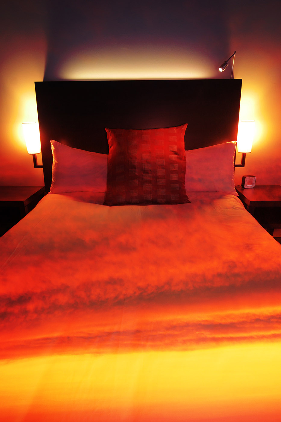 Sunset Bed Cover 2 - Colorful Stock Photos