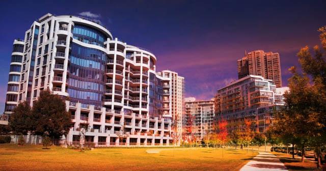 Urban Condominium Park - Colorful Stock Photos