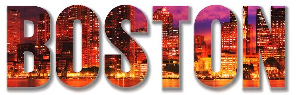 Boston City Text 1 - Colorful Stock Photos
