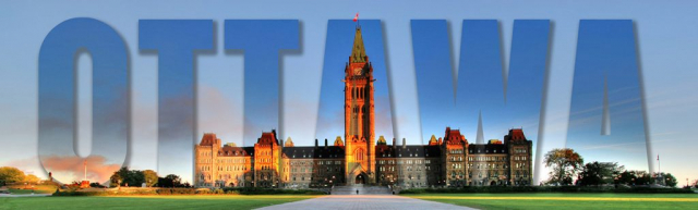 Federal Parliament with Ottawa Text 1 - Colorful Stock Photos