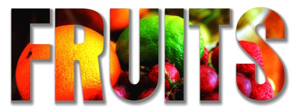 Fruits Text 1 - Colorful Stock Photos