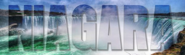 Niagara Text 1 - Colorful Stock Photos
