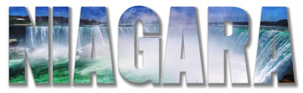 Niagara Text 2 - Colorful Stock Photos