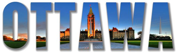 Ottawa Parliament Text 1 - Colorful Stock Photos
