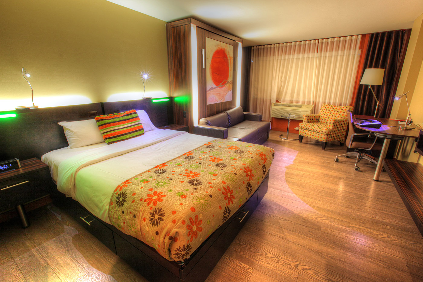 Colorful Hotel Room - Colorful Stock Photos