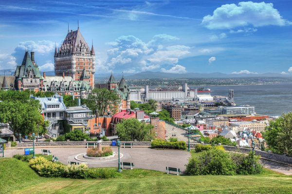Old Quebec City District in Summer - Colorful Stock Photos