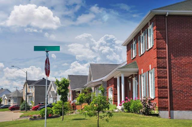 Quiet Neighborhood - Colorful Stock Photos
