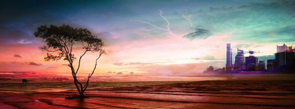 Colorful Apocalyptic Landscape 06 - Colorful Stock Photos
