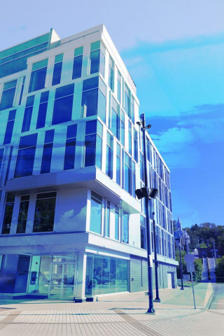 Street Corner Office Building 01 - Colorful Stock Photos