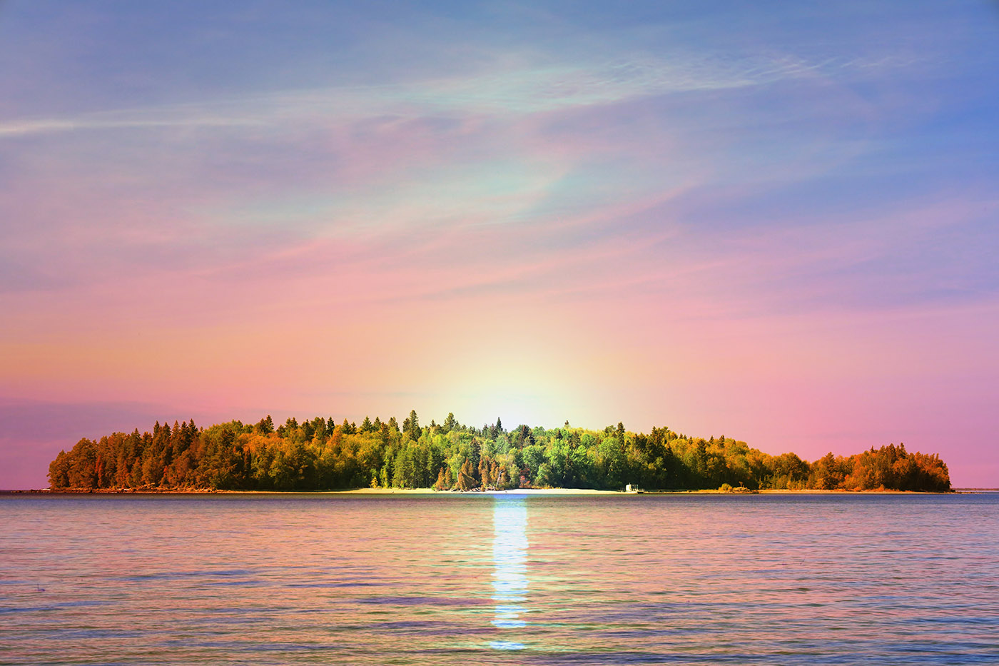 Peaceful Remote Island - Colorful Stock Photos