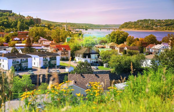 Saguenay City Neighborhood - Colorful Stock Photos