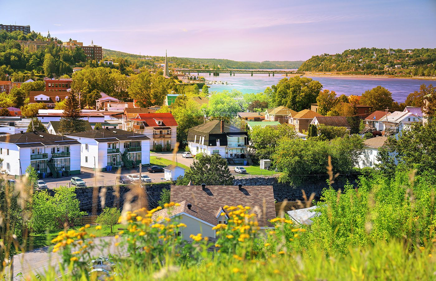 Saguenay City Neighborhood - Colorful Stock Photos