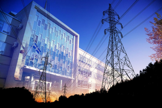Commercial and Public Building Energy Efficiency - Colorful Stock Photos