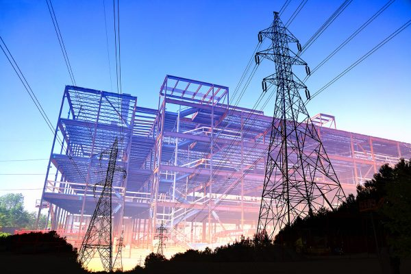 Construction Industry Electrification Concept - Colorful Stock Photos