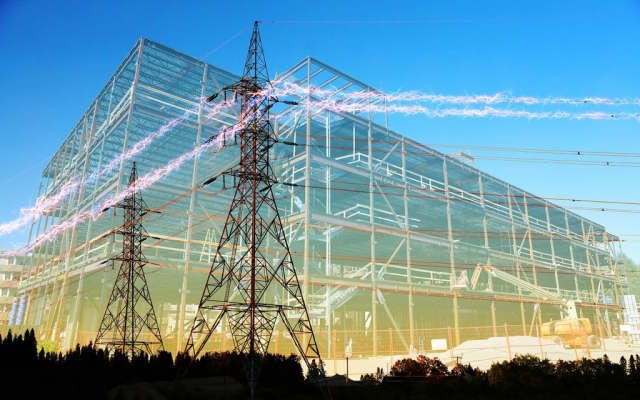 Large Construction Industry Electrification - Colorful Stock Photos