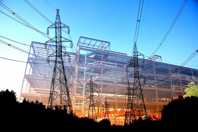 Modern Construction Industry Electrification - Colorful Stock Photos
