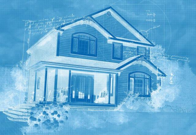 Cozy Modern Home Construction Blueprint Design