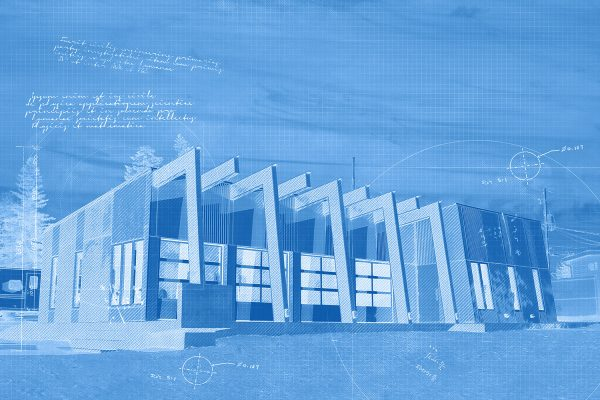 Stylish Building Construction Blueprint Design